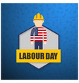 labor day design over blue background vector image