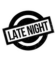 late night rubber stamp vector image