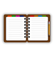 Leather notebook vector image vector image