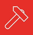 linear hammer icon flat style vector image