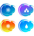 logo concept icon water on a colored background vector image