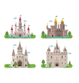 Medieval ancient castles set vector image