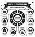 medieval castles infographic concept simple style vector image vector image