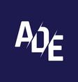 monogram letters initial logo design ade