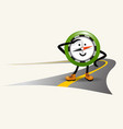 navigational compass character cartoon mascot vector image vector image