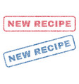new recipe textile stamps vector image vector image