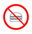 no food sign vector image vector image