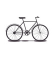 object transport bike silhouette vector image vector image