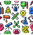 pattern of creativity icons vector image vector image