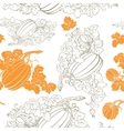Pumpkin Background seamless pattern vector image vector image