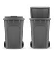 recycling bin trash bucket stock vector image