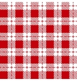 Red and white tablecloth seamless pattern vector image vector image