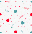 red love seamless pattern with hearts vector image vector image