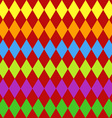 Seamless harlequin pattern-multicolor vector image vector image