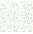 Seamless pattern background for summer vector image