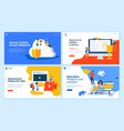 set flat design web page templates vector image vector image