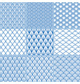 set seamless backgrounds from fish scales vector image vector image