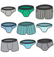set underwear vector image vector image