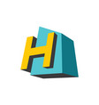 sign of the letter h vector image vector image