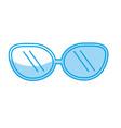 silhouette cute sunglasses fashion style design vector image
