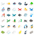 suitcase icons set isometric style vector image vector image