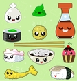 Sushi Collection - File vector image vector image