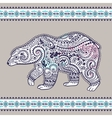 Tribal hand drawn totem bear vector image vector image