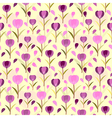 Tulips seamless pattern background floral designed vector image