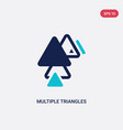 two color multiple triangles triangle icon from vector image vector image