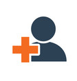 user profile with cross line icon doctor