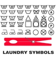 Wash care symbols vector image vector image