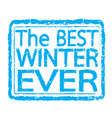winter stamp text design vector image vector image