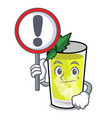 with sign mint julep character cartoon vector image
