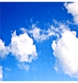 White clouds in the blue sky vector image