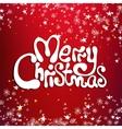 Merry christmas congratulation card vector image