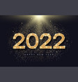 2022 number with golden glitter for new year vector image vector image