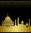 abstract gold arab city seamless pattern vector image vector image