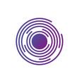 abstract hi-tech segmented geometric circle shape vector image vector image