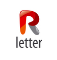 Abstract logo cartoon letter R vector image vector image