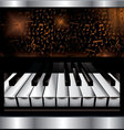 abstract piano background vector image vector image