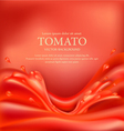 background with splashes waves of red tomato juice
