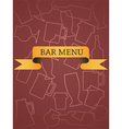 bar menu vector image vector image