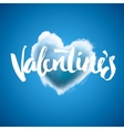 Beautiful heart cloud love for Valentines day vector image vector image
