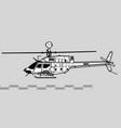 bell oh-58d kiowa warrior vector image vector image