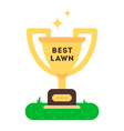 Best Lawn Cup vector image