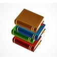 books stack icon vector image