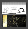 business card for a beauty salon and stylist vector image vector image