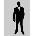 business man black and white 8 vector image
