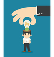 Businessman make idea vector image vector image