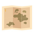 cartoon card on paper stylized travel map vector image